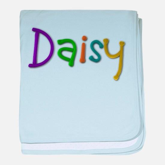 Daisy Play Clay baby blanket