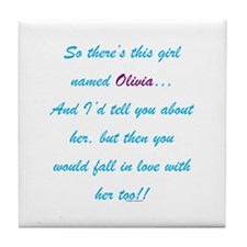 Girl Named Olivia Tile Coaster