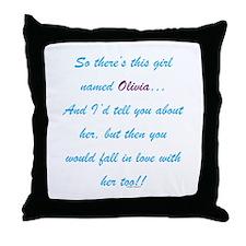 Girl Named Olivia Throw Pillow