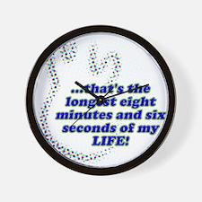 LONGEST 8 MINUTES Wall Clock