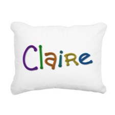 Claire Play Clay Rectangular Canvas Pillow