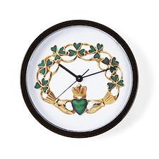 Emerald Claddagh Wall Clock