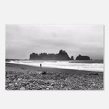 Walking along Rialto Beach Postcards (Package of 8