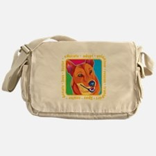 Bright Colored Dog Messenger Bag