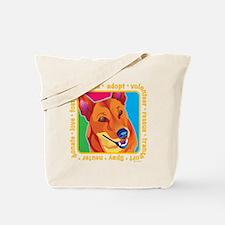 Bright Colored Dog Tote Bag