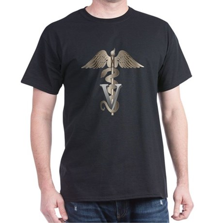 Veterinarian Caduceus Dark T-Shirt