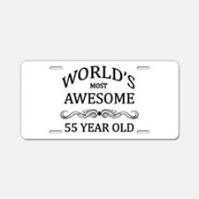 World's Most Awesome 55 Year Old Aluminum License