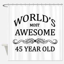 World's Most Awesome 45 Year Old Shower Curtain