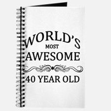 World's Most Awesome 40 Year Old Journal