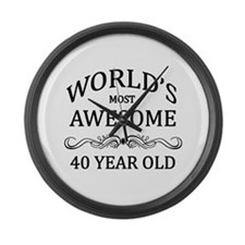 World's Most Awesome 40 Year Old Large Wall Clock