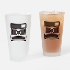 Vintage Instant Camera Drinking Glass
