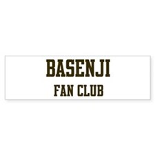 Basenji Fan Club Bumper Bumper Sticker