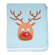 Cute Red Nose Reindeer baby blanket