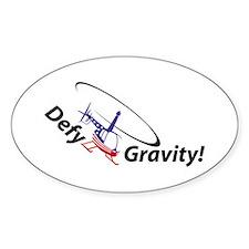 Defy Gravity R44Flag Oval Decal