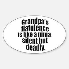 Grandpa's Flatulence Sticker (Oval)
