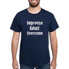 Improvise Adapt Overcome Navy Blue T-Shirt