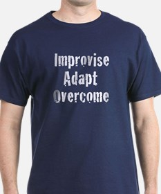 Improvise Adapt Overcome Navy Blue T-Shirt
