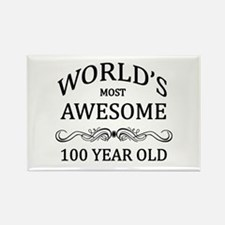 World's Most Awesome 100 Year Old Rectangle Magnet