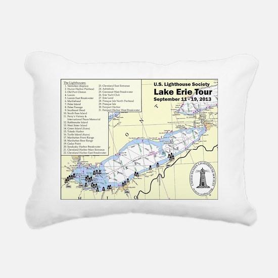 USLHS Lake Erie Tour map Rectangular Canvas Pillow