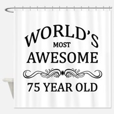 World's Most Awesome 75 Year Old Shower Curtain