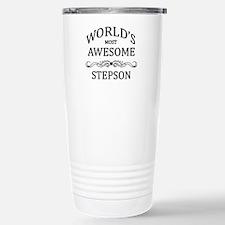 World's Most Awesome Stepson Travel Mug