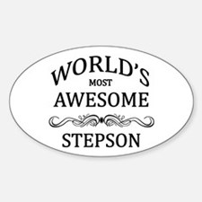 World's Most Awesome Stepson Sticker (Oval)