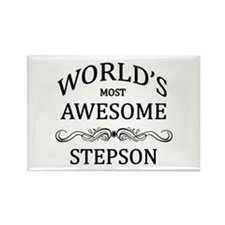 World's Most Awesome Stepson Rectangle Magnet
