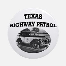 Texas Highway Patrol Ornament (Round)