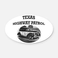 Texas Highway Patrol Oval Car Magnet