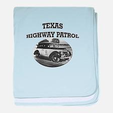Texas Highway Patrol baby blanket