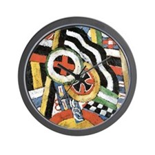 Painting Number 5 by Marsden Hartley Wall Clock