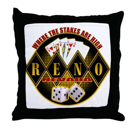 Where The Stakes Are High! Throw Pillow