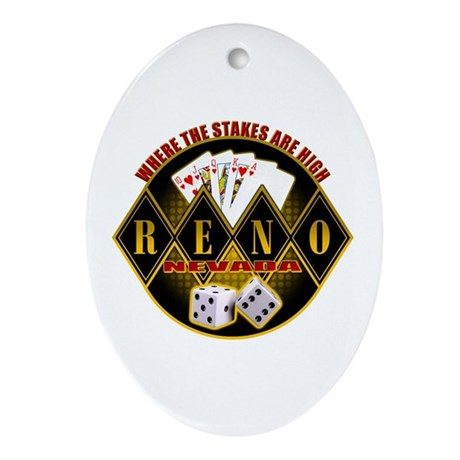 Where The Stakes Are High! Oval Ornament