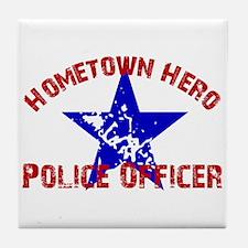 Home.Hero Police Officer Tile Coaster