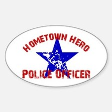 Home.Hero Police Officer Oval Decal