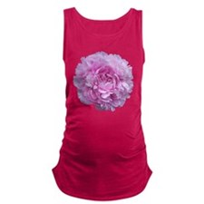 Pink Peony Flower Maternity Tank Top