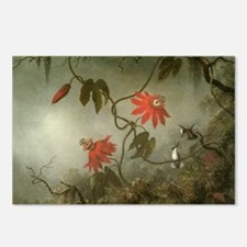 Passion Flowers and Hummi Postcards (Package of 8)