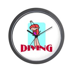 Diving Wall Clock
