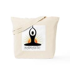 Morning Yoga, Rising Sun, Namaste Tote Bag