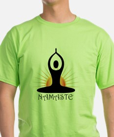 Morning Yoga, Rising Sun, Namaste T-Shirt