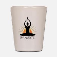 Morning Yoga, Rising Sun, Namaste Shot Glass