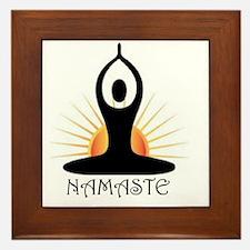 Morning Yoga, Rising Sun, Namaste Framed Tile