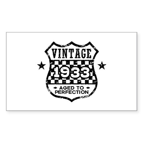 Vintage 1933 Sticker (Rectangle)