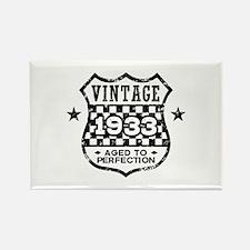 Vintage 1933 Rectangle Magnet