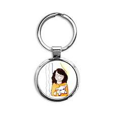 Teacher's Pet Round Keychain