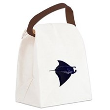 Manta Ray f Canvas Lunch Bag