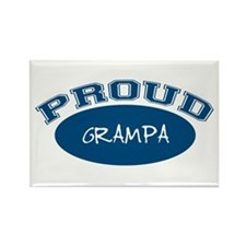 Proud Grampa (blue) Rectangle Magnet