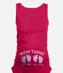 We're Twin Girls Maternity Tank Top