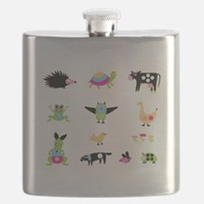 Whimsical Animal Party Flask