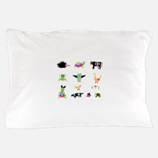 Whimsical Animal Party Pillow Case